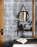 16.4ftx17.7' Wallpaper Gray Industrial Contact Paper Gray Cement Look Wallpaper Peel and Stick Textured Wall Paper Vintage Slate Gray Concrete Contact Paper Wallpaper Removable Grey Self Adhesive Roll