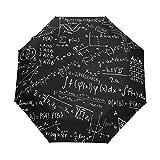 Paraguas de Viaje pequeño a Prueba de Viento al Aire Libre Lluvia Sol UV Auto Compacto 3 Pliegues Cubierta de Paraguas - Mate