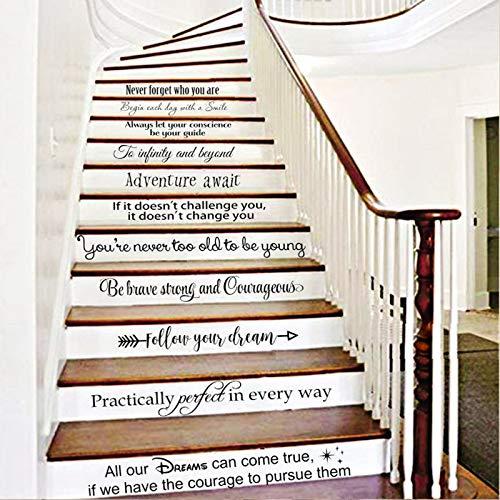 BATTOO Stairway Decals Die Cut Inspirational Quotes Vinyl Wall Sticker...