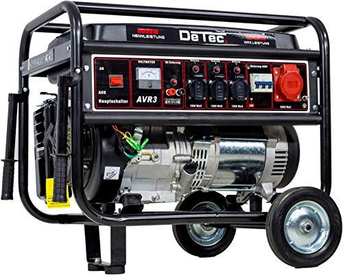 Benzin Stromerzeuger Notstrom Aggregat Stromgenerator 5,5 KW mit Starkstrom 230V + 400V