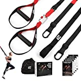RitFit Bodyweight Resistance Training Kit with Integrated Door Anchors and Extension Strap, Fitness Straps for Total Body Workouts, Home & Travel, Workout Guide Included (Without Rings)