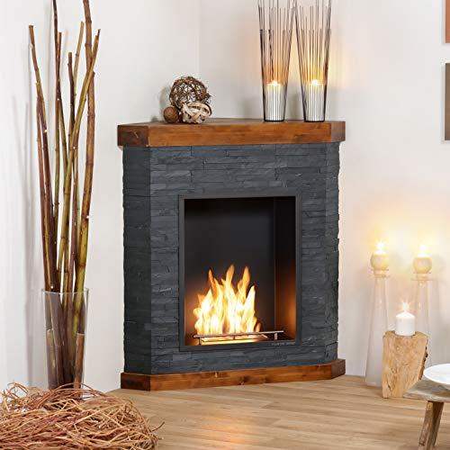 Muenkel Design Aviano [Ethanol Corner Fireplace Slate Dressed]