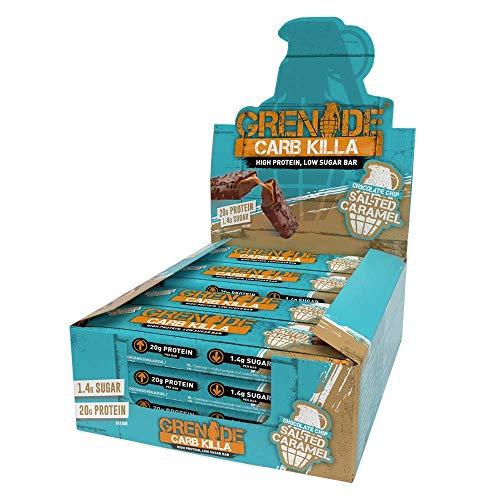 Grenade Carb Killa Hochproteinriegel, 12 x 60g - Chocolate Chip Salted Caramel