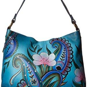 Anna by Anuschka Women's Genuine Leather Large Hobo Handbag   Zip-Top Organizer 4