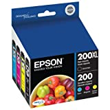 T200XLBCS Epson 200XL/200 high yield Black & standard Color Ink Cartridges (T200XL-BCS), 4/Pack T200XLBCS