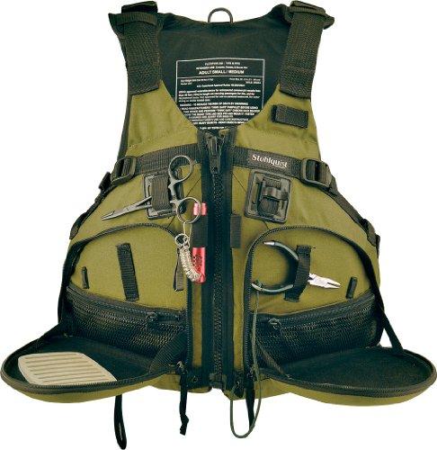 Stohlquist Fisherman Personal Floatation Device, Cactus, Large/X-Large