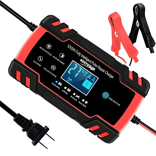 SUHU Car Battery Charger, 12V/8A 24V/4A Smart Automatic Battery...