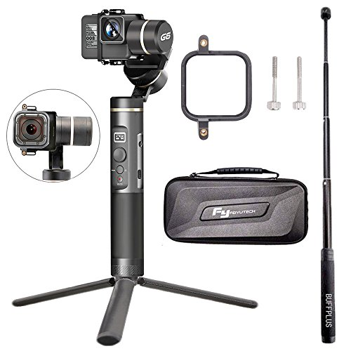 Hohem 3-Axis Gimbal Alluminum Stabilizer w/Plate for Smartphone Up to 6' Like iPhone 7 Plus/6 Plus and Gopro, Wireless Control Vertical Shooting Panorama Mode Tracking Zoom in/Out (Buff-Black)