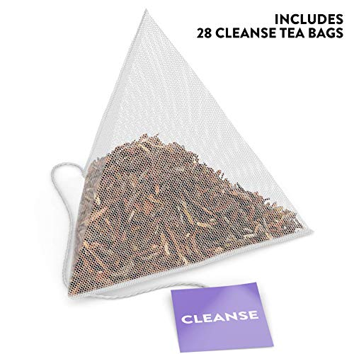 Skinny Tea 28 Day Detox Tea for Weight Loss and Reduced Tummy Bloating: The Original 2-Step Detox Tea Program Includes 28 Morning Boost & 28 Evening Cleanse Pyramid Tea Bags 2