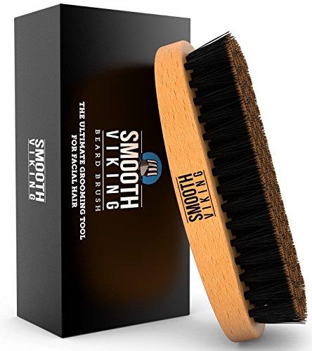 Spazzola da barba per uomo – Pettine per barba e baffi per acconciatura, trattamento e cura dei baffi – Con setole di cinghiale per una maggiore semplicità di cura e acconciatura – Distribuisce prodotti e cere naturali