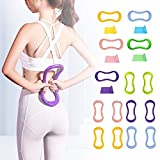 Yoga Ring ABS Pilates Training Ring Fitness Training Ring Resistance Support Tool for Back and Leg Pain Home Workouts Gym for Leg Back Stretches and Strengthen Chest Thighs Arms Core