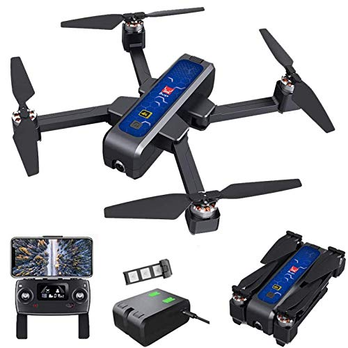 Drone Bugs Drone GPS 4Wcon fotocamera 4K HD, trasmissione WiFi 5G, quadricottero RC pieghevole senza spazzole con posizionamento del flusso ottico, ritorno automatico, seguimi, con borsetta, 1 b