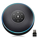 Bluetooth Speakerphone - eMeet Conference Speaker for 5-8 People Business Conference Phone 360º Voice Pickup 4 AI Microphone Self-Adaptive Conference Call Speaker Skype Speakerphone