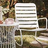 Novogratz 88065WHT1E Poolside Roberta Outdoor Rocking Chair, White