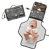 VICROAD Wickelunterlage für Unterwegs, Baby Wickelunterlage Abwaschbar Faltbare Wickeltasche Wickelstation auf Reisen