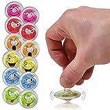 L+H 12x Kreisel für Kinder   Hochwertige Kreisel im Smiley Design   Kreisel ideal als Mitgebsel Mitbringsel Gastgeschenk Giveaway zum Kindergeburtstag oder als Beschäftigung für die Kinder Zuhause