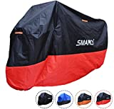 Smarcy Funda Protector para Moto, Cubierta para Moto / Motocicleta Resistente al Agua a Prueba de UV, Color Rojo / Negro XL