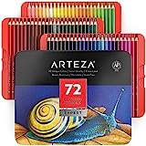 Arteza Colored Pencils, Set of 72 Colors, Soft Wax-Based Cores, Art...