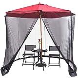 YUGN Outdoor Umbrella Table Screen - Moustiquaire de Parasol de Jardin -...