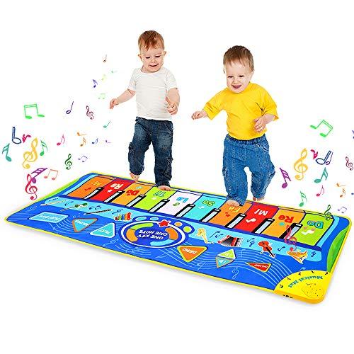 m zimoon Tappeto Musicale, Tappeto Pianoforte Tappetino da Ballo Multifunzione Gioco Tappeto Musicale per Bambini Ragazzi Ragazze (127 * 47 cm)