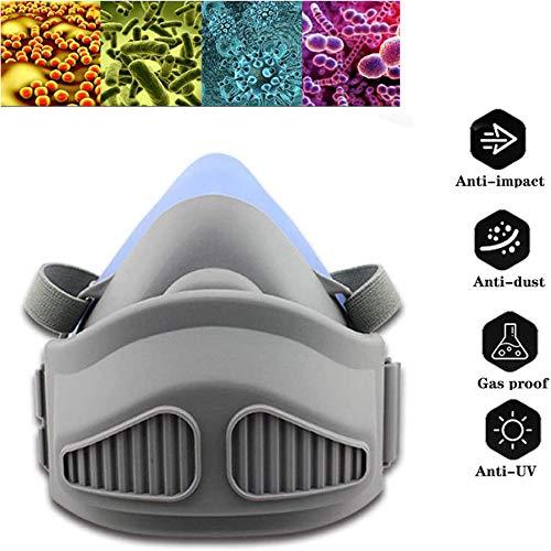 WFGZQ Maschera Antigas del Respiratore A Pieno Facciale, Respiratore A Vapore Organico Professionale per Vernice, Polvere, Protezione Chimica, Antiparassitaria, con Funzione Antigas Tossica