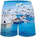 uideazone Men's Sportwear Quick Dry Board Shorts Ocean Pacific Shorts Summer Beach Holiday Swim Trunks with Two Side Pockets