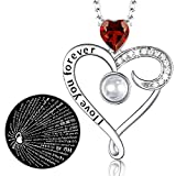 Zavest July Birthstone Ruby Jewellery Mum Wife Birthday Gifts I Love You Necklace 100 Languages Sterling Silver Heart Pendant Necklace