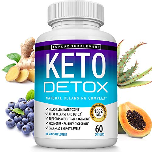 Keto Detox Pills Advanced Cleansing Extract – 1532 Mg Natural Acai Colon Cleanser Formula Using Ketosis & Ketogenic Diet, Flush Toxins & Excess Waste, for Men Women, 60 Capsules, Toplux Supplement 1 - My Weight Loss Today