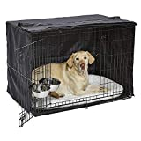 iCrate Dog Crate Starter Kit 42-Inch Dog Crate Kit Ideal for Large Dog Breeds (weighing 71 - 90 Pounds) Includes Dog Crate, Pet Bed, 2 Dog Bowls & Dog Crate Cover