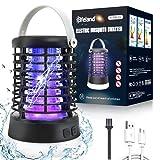 Elfeland Lampe Anti Moustique Electrique 3 en 1 Lampe Camping Exterieur 3 Modes Éclairage Etanche IP65 Tue Mouche Electrique UV LED Interieur USB Rechargeable...