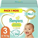 Pampers Couches Premium Protection Taille 3 (6-10kg) notre N°1 pour la...