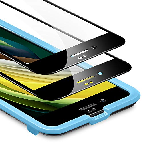 [改進版]ESR iPhone SE ガラスフィルム 第2世代 (2枚入り) iPhone SE/8/7 フィルム 2020 新型 [気泡なし] [...