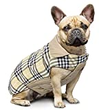 Manteau à carreaux réversible pour chien Automne Hiver Gilet...