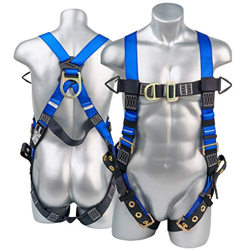 Fall Protection Body Safety Harness w/ 5pt...