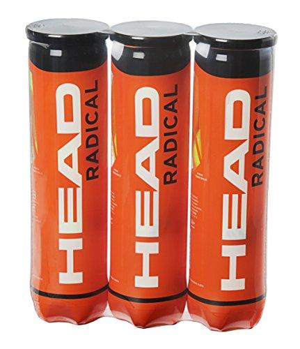Head Radical Tennisballen | 3 x 4 stuks | ITF goedgekeurd | Geschikt voor alle niveaus | Gasgevuld | Voor alle ondergronden
