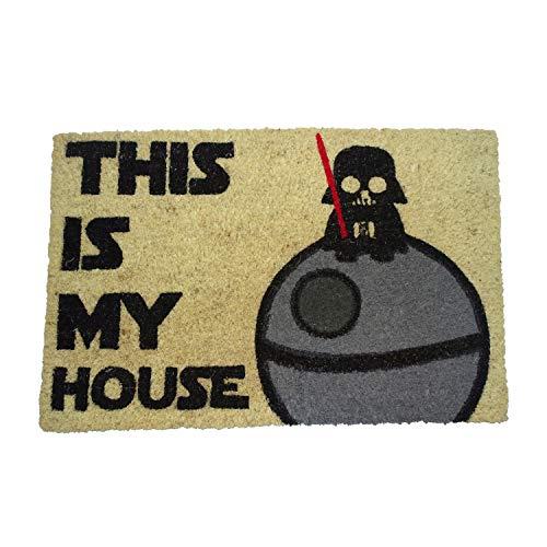 koko doormats Felpudo de Star Wars para Entrada de Casa Original y Divertido/Fibra Natural de Coco...