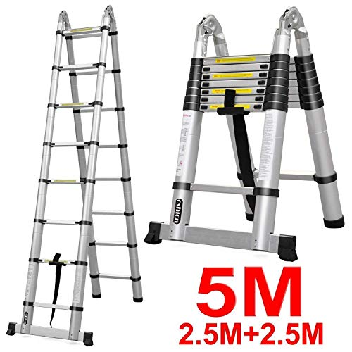 7. Oshion Telescoping Extension Ladder