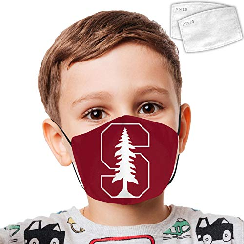 Gary Katte St-anf_ord Car-dinal Kids dust mask pcs Filter Washable and Reusable Windproof Child dust...