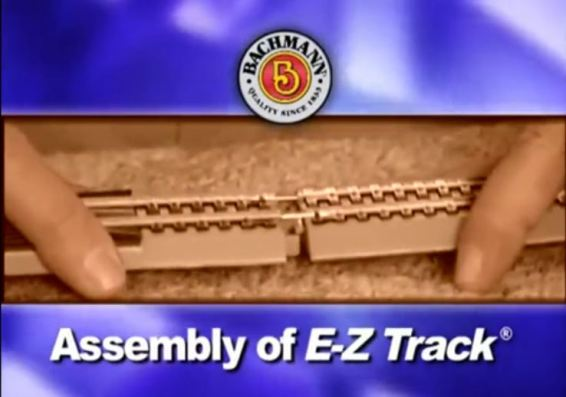 Bachmann-Trains-Snap-Fit-E-Z-TRACK-9-STRAIGHT-TRACK-4card-STEEL-ALLOY-Rail-With-Black-Roadbed-HO-Scale-44411