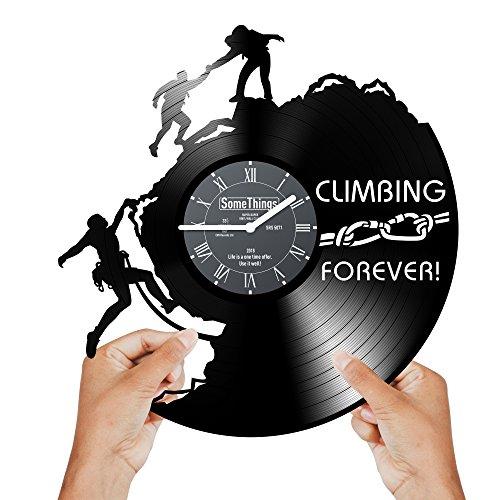 Climbing Vinyl Record Clock - Rock Climbing Gifts for...