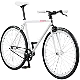 Pure Fix Original Fixed Gear Single Speed Bicycle, Romeo White, 58cm/Large