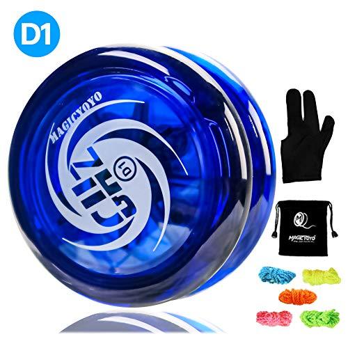 MAGICYOYO Responsive Yoyo D1 GHZ, Professionelle Looping Yoyos für Kinder Anfänger mit 5 Yoyo Strings, Yo Yo Handschuh, Tasche