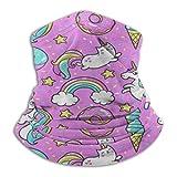 Pink Unicorn Cat Kitten Rainbow Balaclava Womens Headband Scarf Mens Bandana,Muffler,Neck Gaiter,Magic,Hatliner Helmet Liner