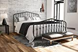 Novogratz Bushwick Metal Bed with Headboard and Footboard   Modern Design   Queen Size - Grey