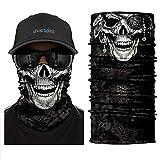 ShopINess Cache-Cou/Bandana Multifonctions - Crâne/tête de Mort (Pirate)