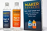 Maker Supreme Crystal Clear Epoxy - 2 Part Epoxy Resin Kit with Fun, Detailed Instruction Guide | 8 oz + 8 oz = 16 oz Total with 1:1 Ratio | Great Jewelry Resin, Craft Resin, or Art Resin