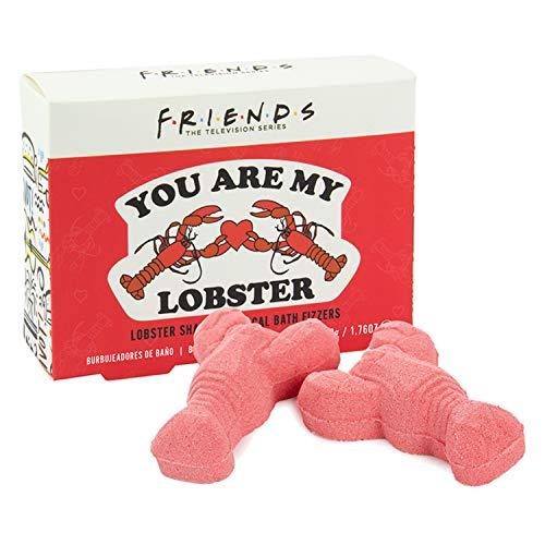 """Paladone- Friends Bombas de baño con forma de langosta (2x50g), efervescente y rosa,""""Tú eres my langosta"""""""