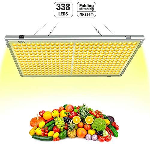 Pflanzenlampe Vollspektrums LED Relassy 300W Lichtleistung mit 338 LEDs, LED Grow Light, 65W Verbrauch, Klappbare Pflanzenlicht für Zimmerpflanzen (F-300)