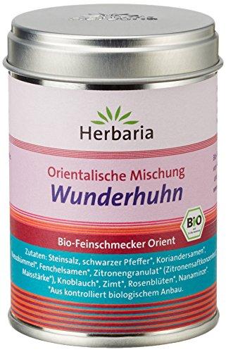 """Herbaria """"Wunderhuhn"""" Orientalische Gewürzmischung für Geflügel, 1er Pack (1 x 80 g Dose) - Bio"""