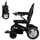 """Porto Mobility Ranger D09S XL, No.1 Best Rated Weatherproof Exclusive Lightweight Folding Electric Wheelchair, Dual """"500W"""" Motors, All Terrain, Dual Battery Portable Electric Wheelchair (Black, XL)"""